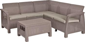 Комплект мебели Allibert Corfu Relax set капучино 17202123/КАП комплект мебели allibert corona set with cushion box капучино 17198017