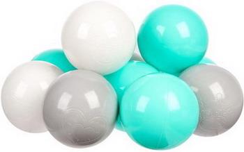 Набор мячей для сухого бассейна Hotnok Мятный бриз (100шт: мят сер и бел) sbh 136 apple wireless keyboard rus сер бел
