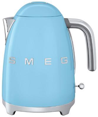 Чайник электрический Smeg KLF 01 PBEU голубой чайник smeg klf02bleu