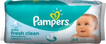 Салфетки детские Pampers влажные Fresh Clean сменный блок 64 цена