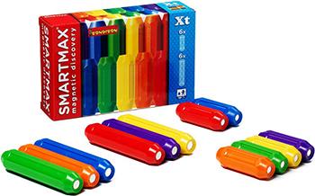 Конструктор Bondibon Магнитный конструктор SmartMax Дополнительный (Xt) набор:6 кор.и 6 длин. пал-чек ВВ0876 bondibon конструктор магнитный smartmax светящийся ларри цвет желтый