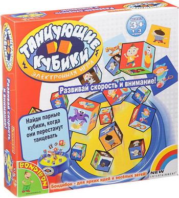 Настольная игра Bondibon Танцующие кубикиВВ1818 игра bondibon детектор лжи bb1182 196484