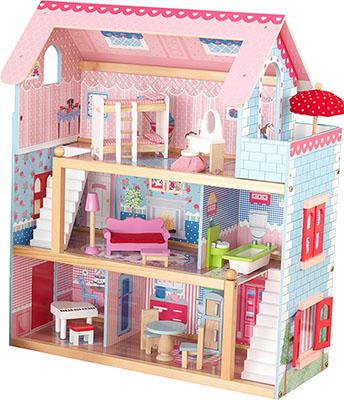 Кукольный домик KidKraft Открытый коттедж 65054_KE kidkraft домик для мини кукол стильный коттедж с 3 лет