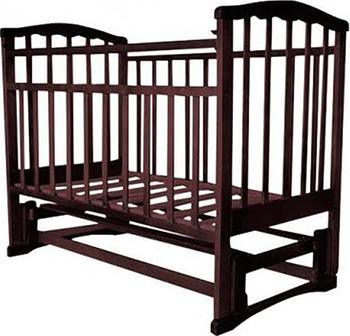 Детская кроватка Агат ''Золушка-5'' 120*60 классическая  маятник продольный  Шоколад