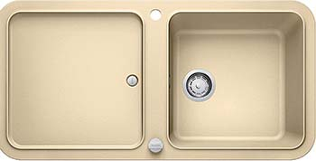 Кухонная мойка BLANCO YOVA XL 6S SILGRANIT шампань с клапаном-автоматом InFino 523600 мойка blanco classik 9e silgranit 521342 шампань