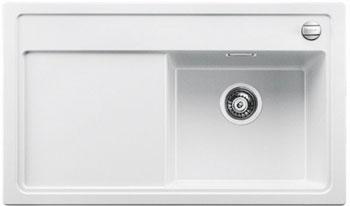 Кухонная мойка BLANCO ZENAR 45 S (чаша справа) белый с кл.-авт. InFino мойка кухонная blanco zenar 45s чаша справа белый с клапаном автоматом 519255