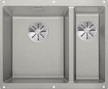 Кухонная мойка BLANCO SUBLINE 340/160-U SILGRANIT жемчужный (чаша слева) с отв.арм. InFino 523551 blanco statura 160 u