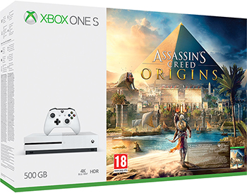 Игровая приставка Microsoft One S 500 ГБ + Assassin's Creed Origins (ZQ9-00235) it8718f s hxs gb