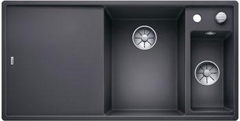 Кухонная мойка BLANCO AXIA III 6 S InFino Silgranit темная скала (столик ясень) 523463 blanco lexa 8 s темная скала