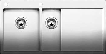 Кухонная мойка BLANCO CLARON 6S-IF/А (чаша слева) нерж. сталь зеркальная полировка 521646 franke anx 211 86 нерж сталь чаша слева