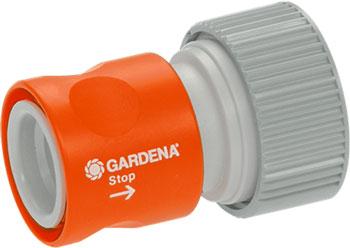 Коннектор Gardena с автостопом «Профи» 02814-20 коннектор для шланга green apple gwhc20 059