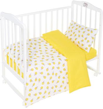 Комплект постельного белья Sweet Baby Gelato Giallo (Желтый) 3 предмета asabella комплект постельного белья asabella евро 4 предмета белоснежный кружево eaibxtl