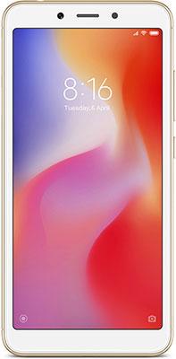 Смартфон Xiaomi Redmi 6 3/64 Gb золотой смартфон xiaomi note 6 pro 32 gb черный