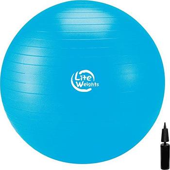Мяч гимнастический Lite Weights 1867 LW (голубой) батут складной lite weights lw 40 quot page 7