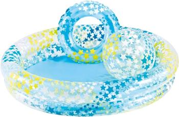 Детский надувной бассейн Intex 122х25см ''Звездный'' с мячом и кругом 114л от 2 лет 59460