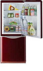 Двухкамерный холодильник Daewoo Electronics RN-173 NR  холодильник daewoo rn 173nr красный