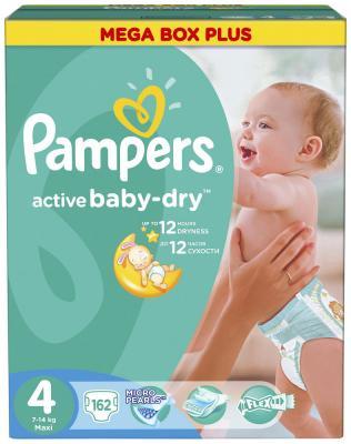 Подгузники Pampers Active Baby-Dry 7-14 кг 4 размер 162 шт подгузники детские pampers подгузники active baby dry 8 14 кг 4 размер 90 шт
