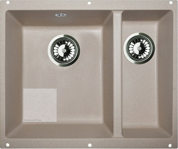 Кухонная мойка Zigmund amp Shtain INTEGRA 500.2 темная скала zigmund amp shtain integra 500 2 индийская ваниль