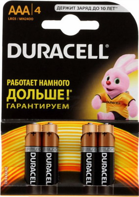 Батарейка Duracell LR 03/MN 2400-4BL BASIC AAA игрушка laq basic 2400 colors