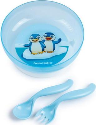 Набор посуды Canpol babies 21/300 голубой canpol babies ножницы детские цвет голубой