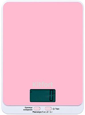 Кухонные весы Kitfort КТ-803-2 розовые
