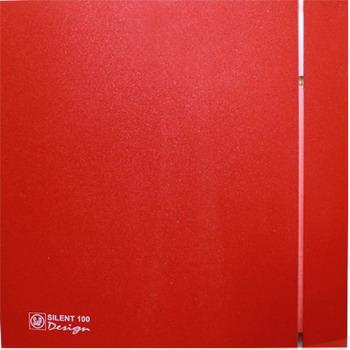 Вытяжной вентилятор Soler amp Palau Silent-100 CRZ Design 4C (красный) 03-0103-179 вентилятор solerpalau silent 200 crz silver design 3с