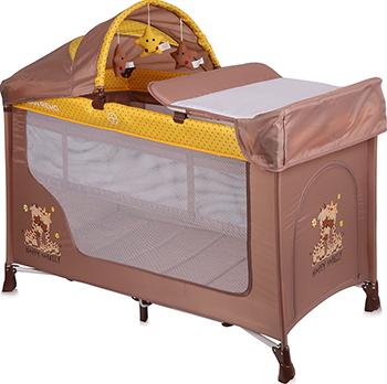 Манеж-кровать Lorelli San Remo 2 Plus Бежево-желтый / Beige&Yellow Happy Family 10080081803