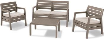 Комплект мебели Allibert Delano Set капучино 17201088 комплект мебели allibert corona set with cushion box капучино 17198017