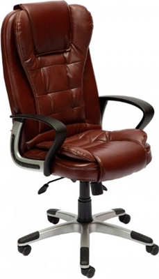 Офисное кресло Tetchair BARON (кож/зам коричневый перфорированный 2 TONE) кресло tetchair baron кож зам коричневый коричневый перфорированный 2 tone 2 tone 06