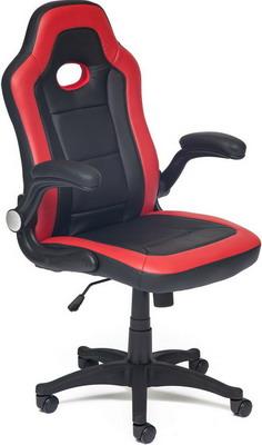 все цены на Кресло Tetchair Denton кож/зам черный/красный
