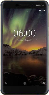 Мобильный телефон Nokia 6.1 (2018) 32 GB Dual Sim синий мобильный телефон huawei p smart 3 32 gb dual sim синий