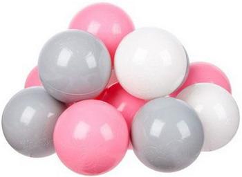 Набор мячей для сухого бассейна Hotnok Розовый бриз (100шт: розов сер и бел) sbh 137 apple wireless keyboard rus сер бел