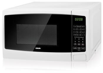 Микроволновая печь - СВЧ BBK 20 MWS-726 S/W белый микроволновая печь свч bbk 23 mwg 930 s bw чёрный белый