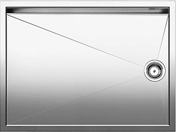 Кухонная мойка BLANCO ZEROX 550-T-IFнерж. сталь зеркальная полировка blanco zerox 550 u нерж сталь зеркальная