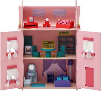 Кукольный дом Paremo Милана с 15 предметами мебели PD 115-01 кукольный домик paremo милана с 15 предметами мебели