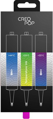 Чернила для 3D ручки чувствительные к температуре (Blue, Green, Purple) CreoPop