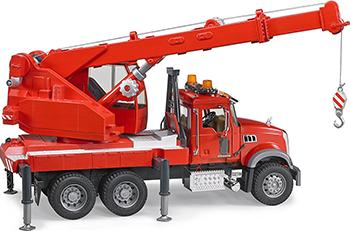 Автокран Bruder MACK  красный 02-826 mack