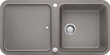 Кухонная мойка BLANCO YOVA XL 6S SILGRANIT серый беж с клапаном-автоматом InFino 523601 мойка кухонная blanco elon xl 6 s шампань с клапаном автоматом 518741