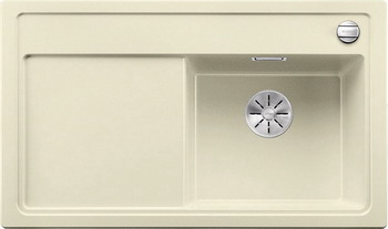 Кухонная мойка BLANCO ZENAR 45 S-F (чаша справа) SILGRANIT жасмин с кл.-авт. InFino 523797 кухонная мойка blanco zenar 45 s f правосторонняя белый