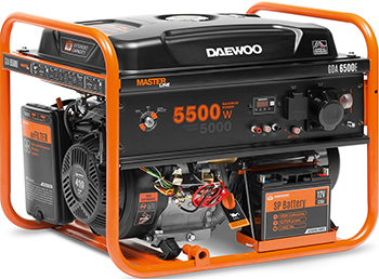 Электрический генератор и электростанция Daewoo Power Products GDA 6500 E культиватор электрический daewoo power products dat 1800 e