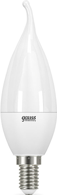 Лампа GAUSS LED Elementary Candle Tailed 8W E 14 2700 K 1/10/50 лампа gauss led elementary globe 10 w e 14 2700 k 53110