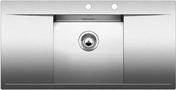 Кухонная мойка BLANCO FLOW 45 S-IF нерж. сталь зеркальная полировка с клапаном-автоматом 521636 blanco elipso s ii нерж сталь зеркальная