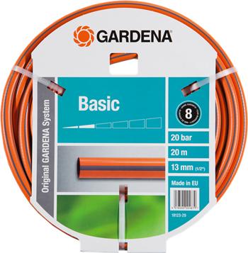 Шланг садовый Gardena Basic  13 мм (1/2'')  20 м  18123-29 шланг садовый truper трехслойный с полипропиленовым коннектором 1 2 20 м