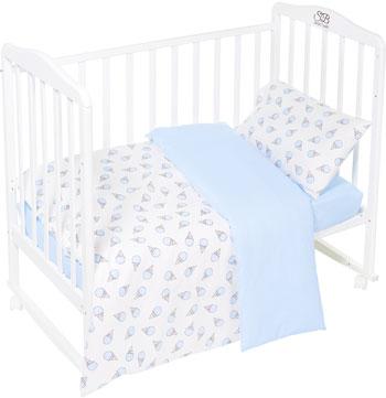 Комплект постельного белья Sweet Baby Gelato Blu (Голубой) 3 предмета asabella комплект постельного белья asabella евро 4 предмета белоснежный кружево eaibxtl