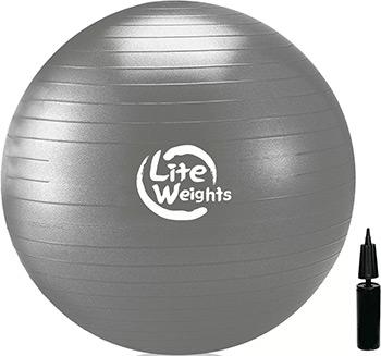 Мяч гимнастический Lite Weights 1868 LW (серебро) батут складной lite weights lw 40 quot page 7