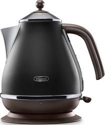 Чайник электрический DeLonghi KBOV 2001.BK черный кофемашина delonghi ecam 45 760 w белый