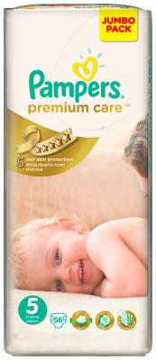 Подгузники Pampers Premium Care Junior 11-18 кг  5 размер  56 шт pampers pampers premium care junior 5 12 18 20