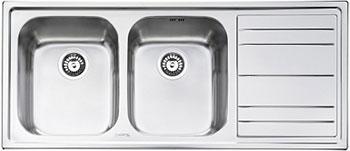 Кухонная мойка Smeg LE 116 D-2 кухонная мойка smeg lqr 862 2