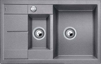 Кухонная мойка BLANCO METRA 6S COMPACT SILGRANIT алюметаллик мойка blanco classik 9e silgranit 521342 шампань