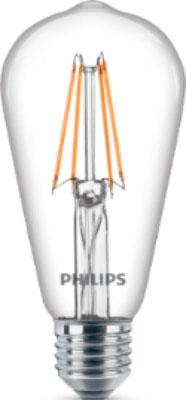 Лампа Philips LEDClassic 7-70 W ST 64 E 27 WW CL D лампа накаливания philips p45 60w e14 cl